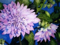 Dahlias, Watercolour | by Lee Rawn