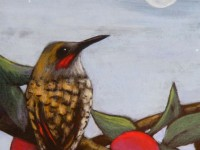 Flicker at dusk | Painting by Lee Rawn