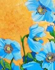 Himalayan Poppys | Acrylic by Lee Rawn