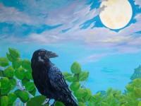 Moon Bright Raven