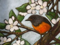 Robin Blossoms | Painting by Lee Rawn